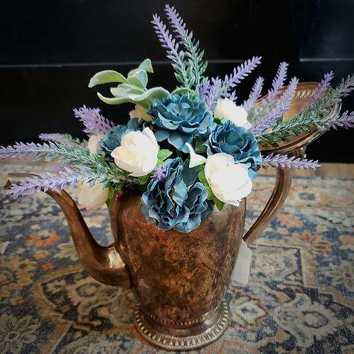 Rustic Floral Teapot