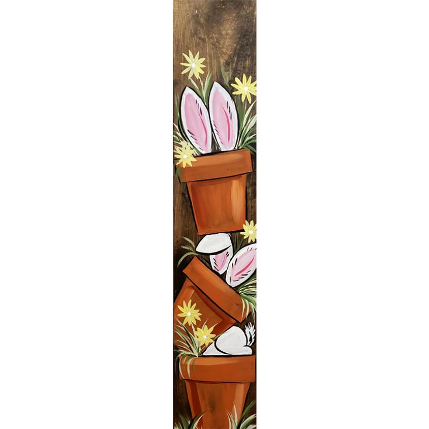 Bunny Garden _ on a board