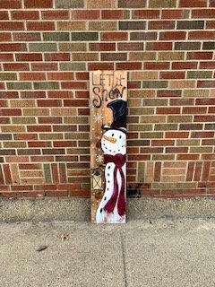 Let it Snow-Snowman Porch Sign