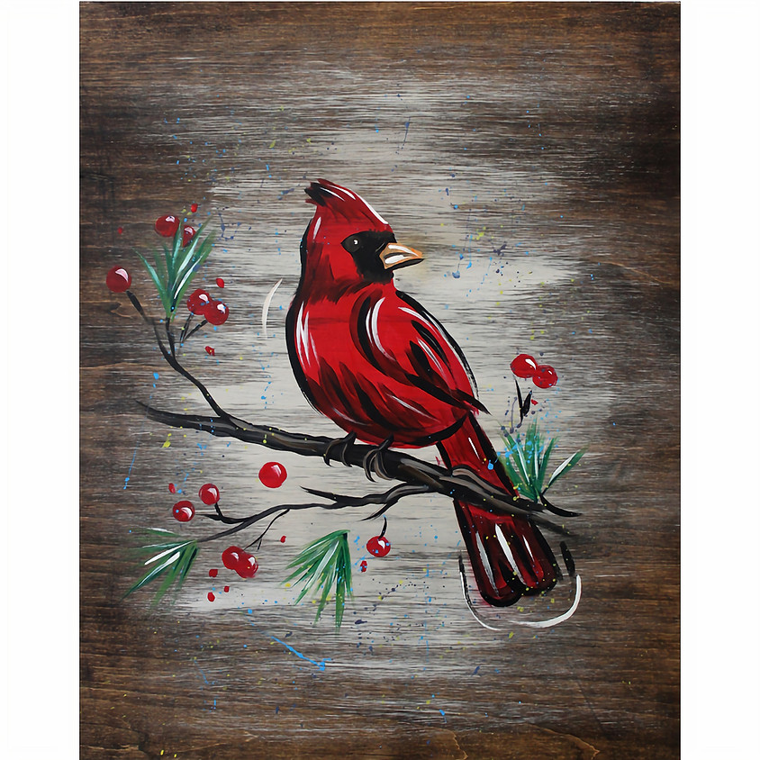 Cardinal - on a Board @ Stone Cliff Winery