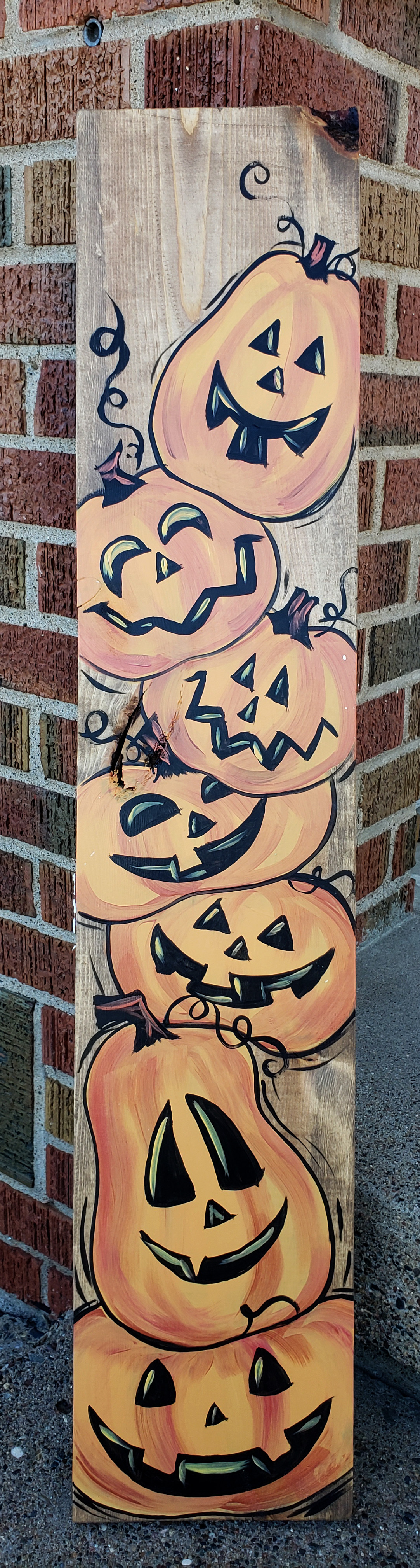 Stacked Jack-O-Lanter Board