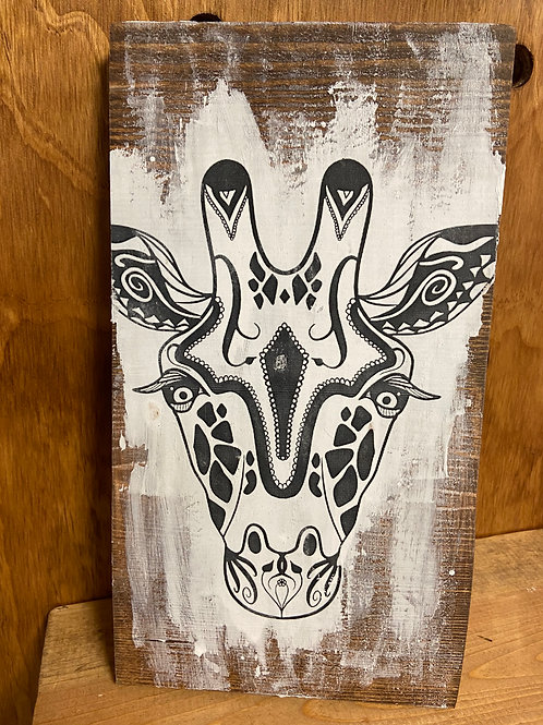 Giraffe Mandala Color Decor