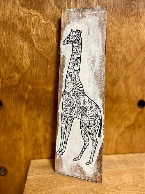 Tall Giraffe Color Decor