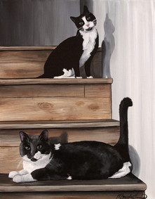 2 Cats on the Steps