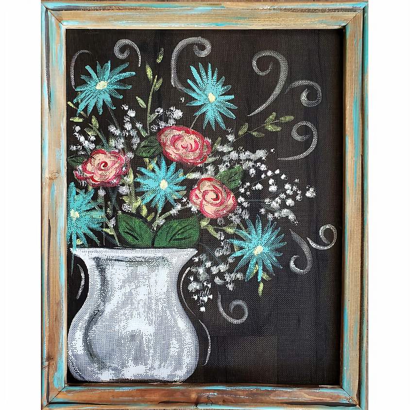 Flower Pot in a Screen - Live or In-Studio