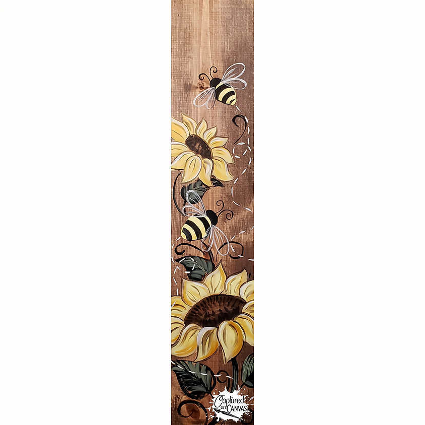 Sunflower Bee Porch Sign - Live or In-Studio