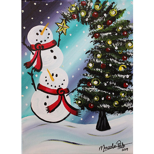 Stacked Snowmen - AnyTime Paint Party Kit