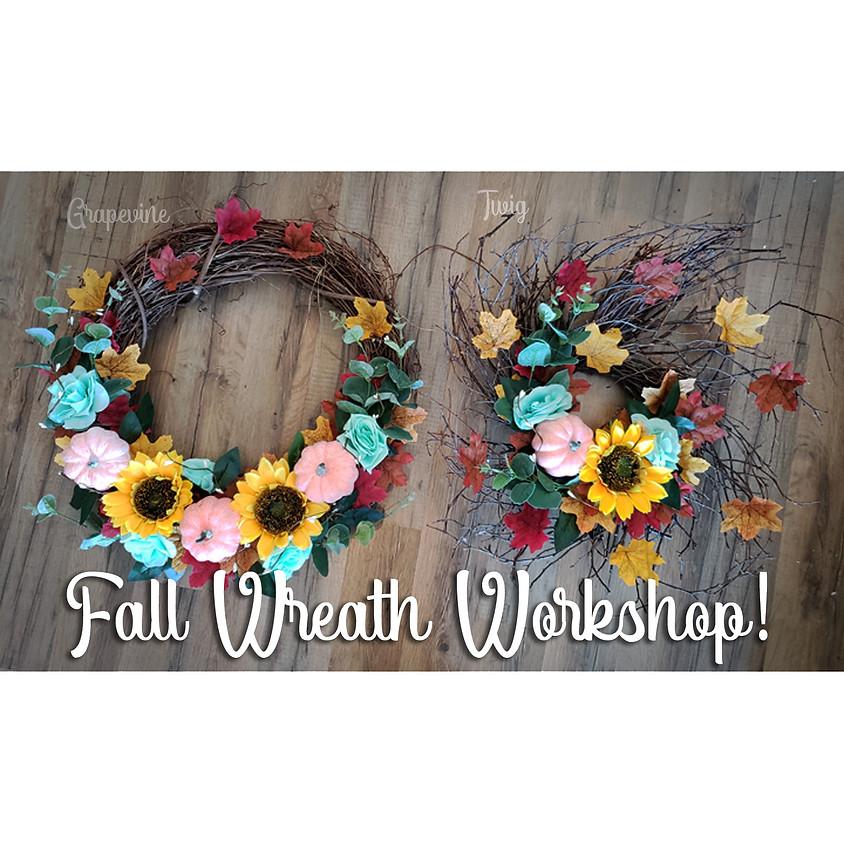 Fall Wreath Step-By-Step Workshop