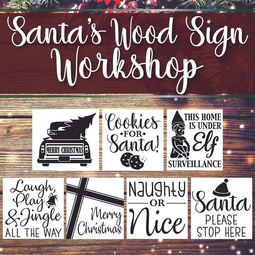 Santa's Sign Workshop - Little Artist & Family Event - In-Studio or LIVE