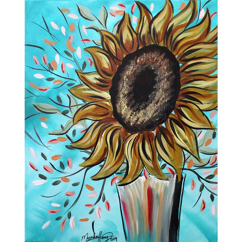 Teal Sunflower - LIVE