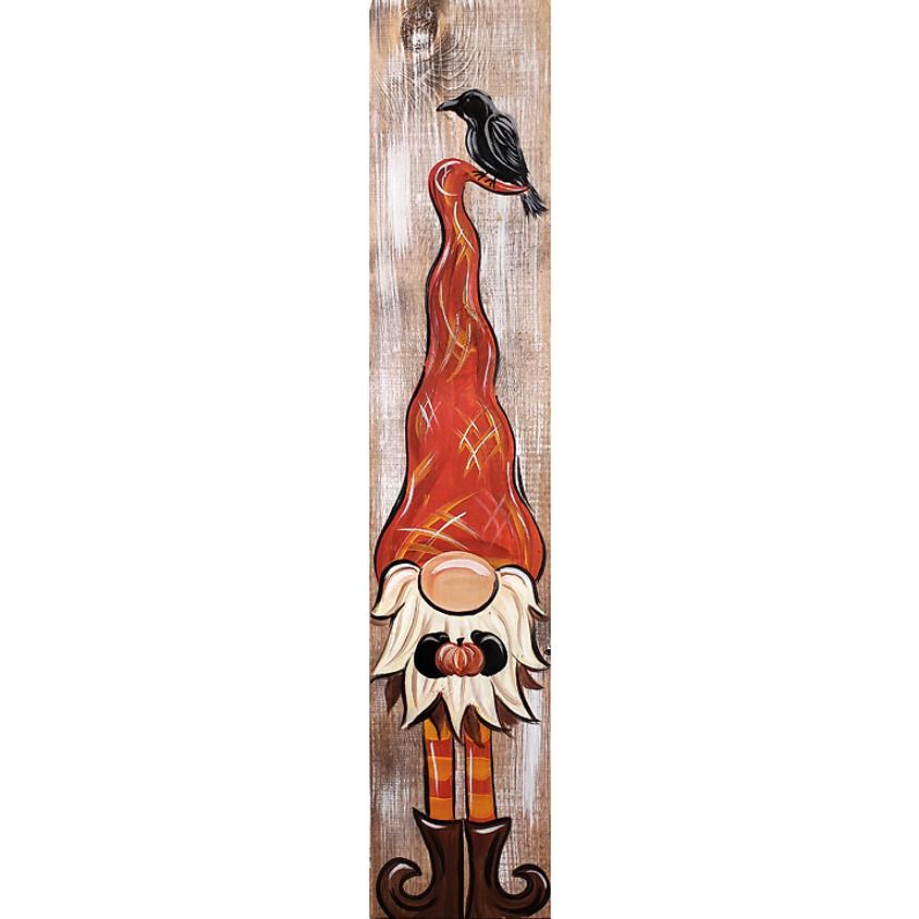 Fall Gnome Porch Sign - Live or In-Studio