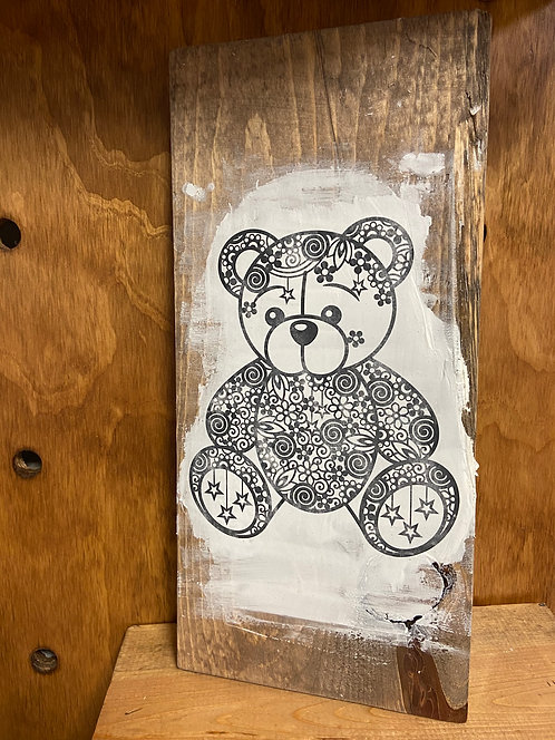 Bear Mandala Color Decor