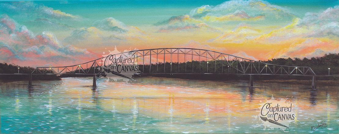 Sunset at Julien DBQ Bridge