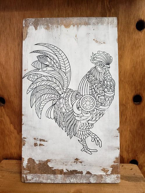 Rooster Color Decor