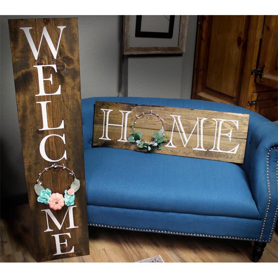 Wreath Board_Welcome OR Home