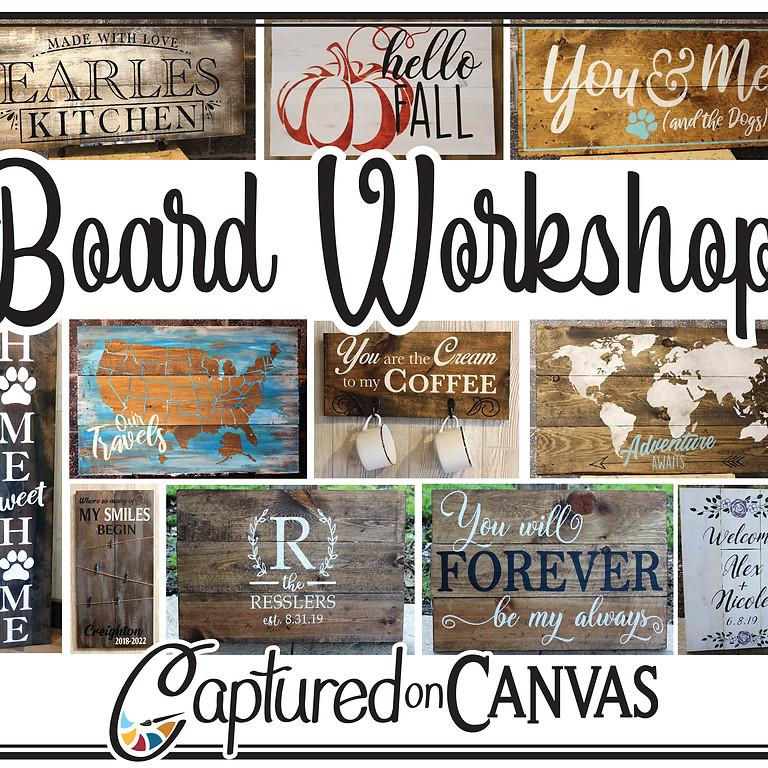 Board Sign Workshop! - In-Studio