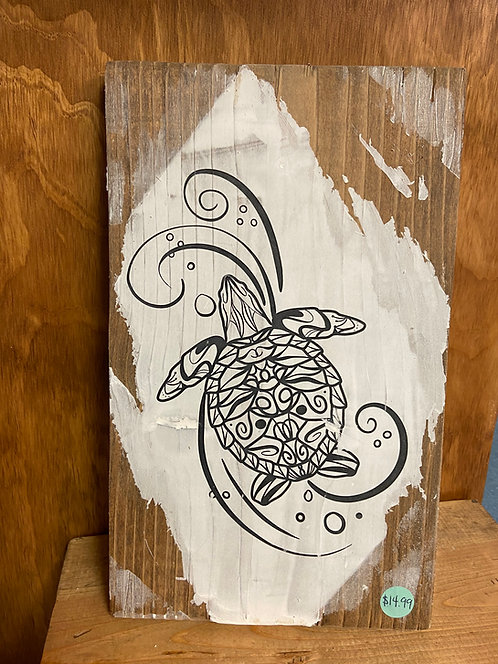 Turtle with a Swirl Color Decor