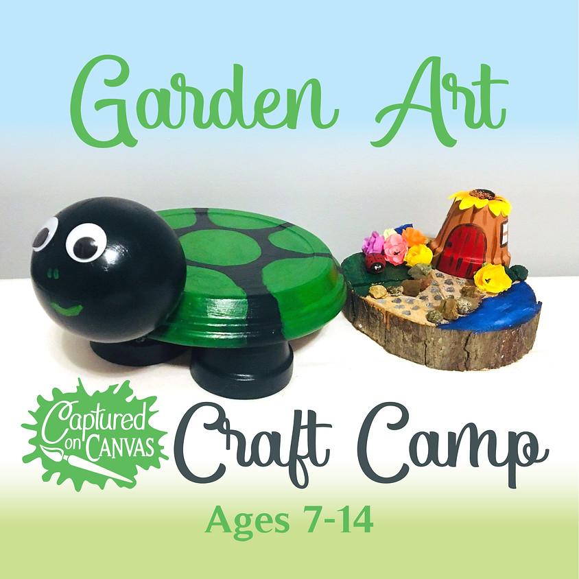 Garden Art - Turtle Planter & Fairy Garden - Craft Camp