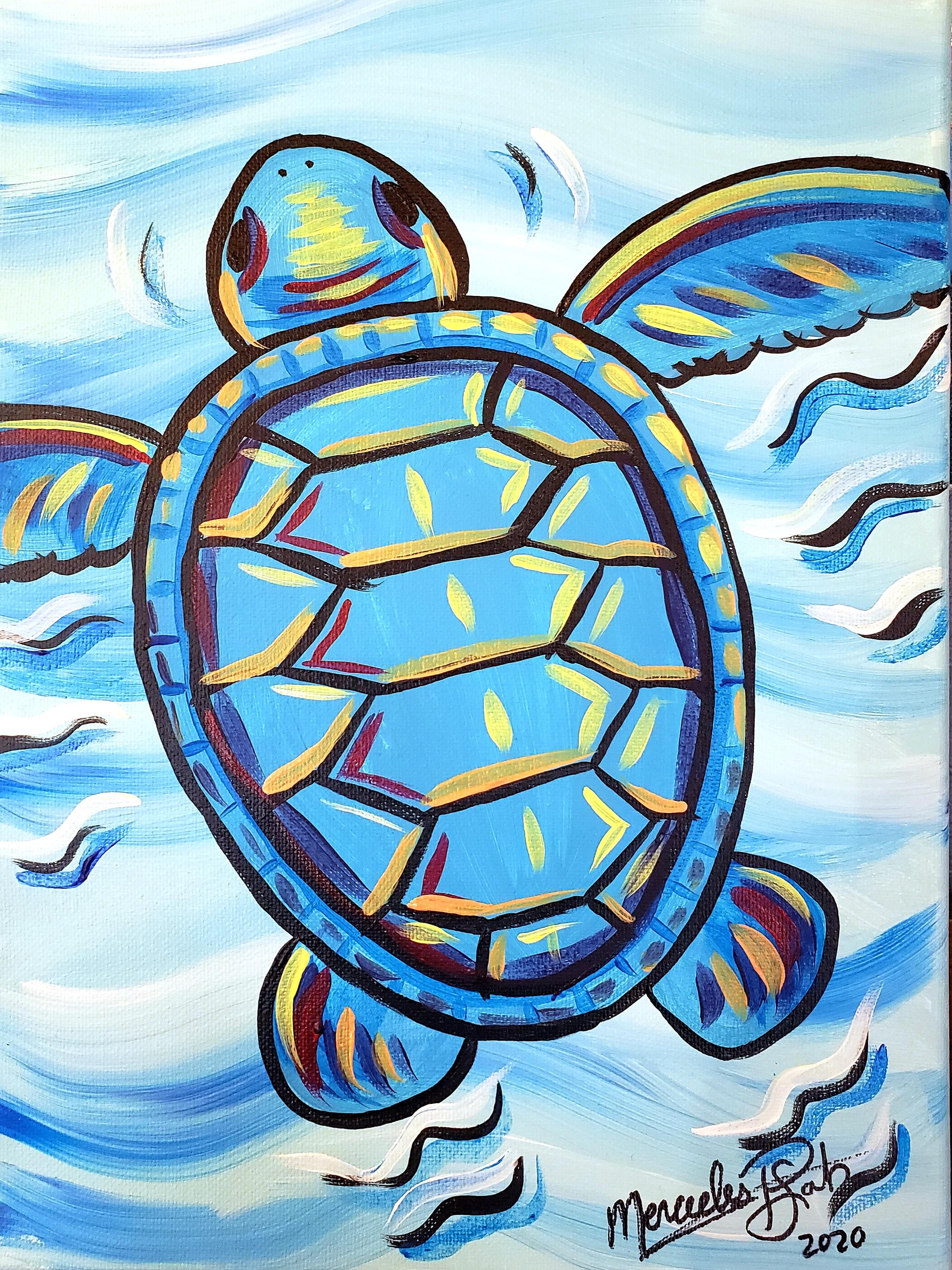 Teal Turtle