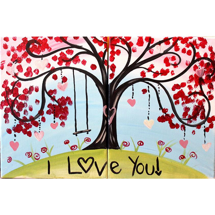 Mommy & Me Valentines Tree