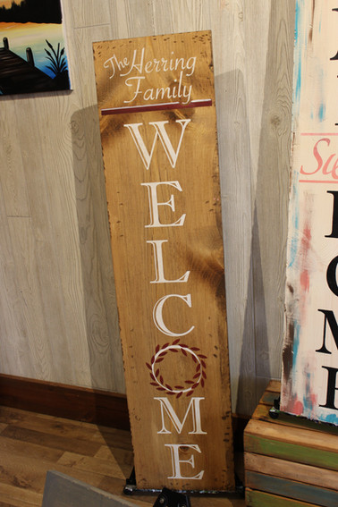 Family Name Welcome Porch Sign