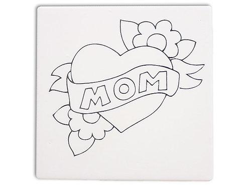 Mom Heart Tile