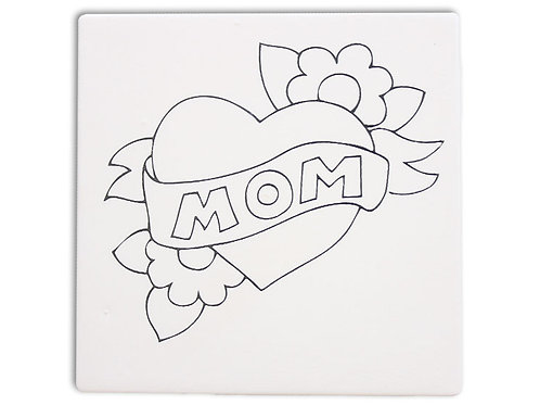 Mom Heart Tile