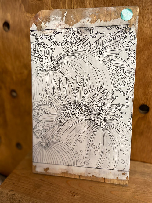 Sunflower & Pumpkin Color-Me-Decor