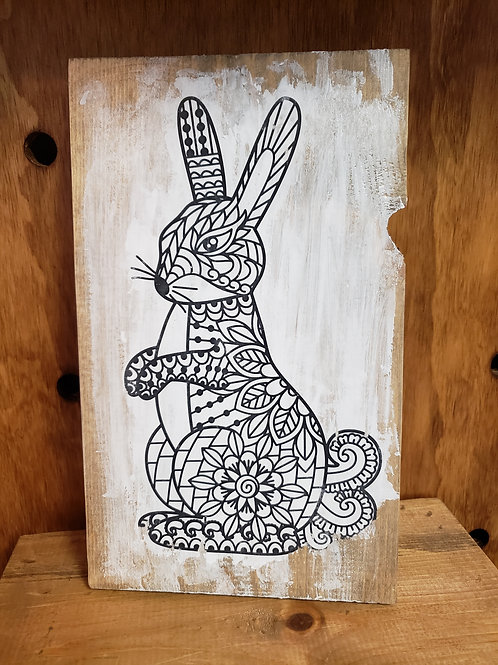 Standing Bunny Color Decor