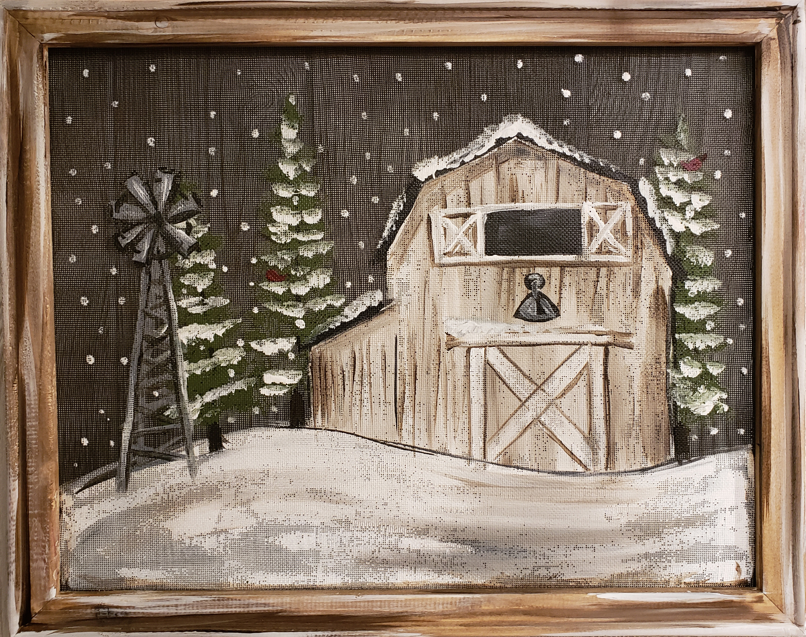Barn Scene on a Screen