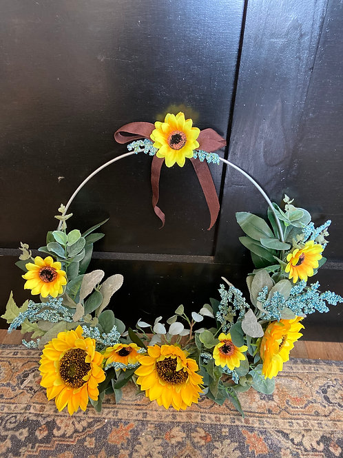 Green & Sunflower Hoop