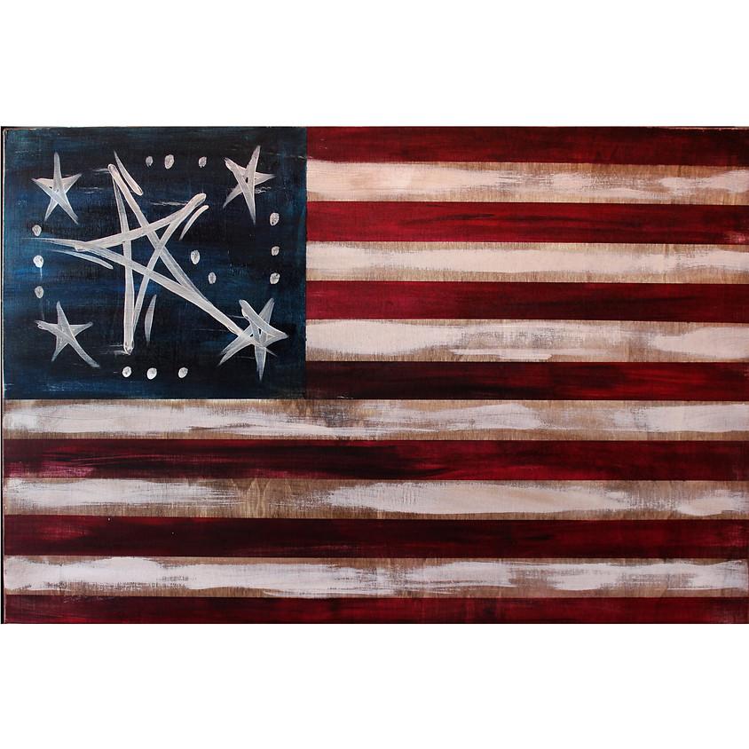 American Flag - on a board
