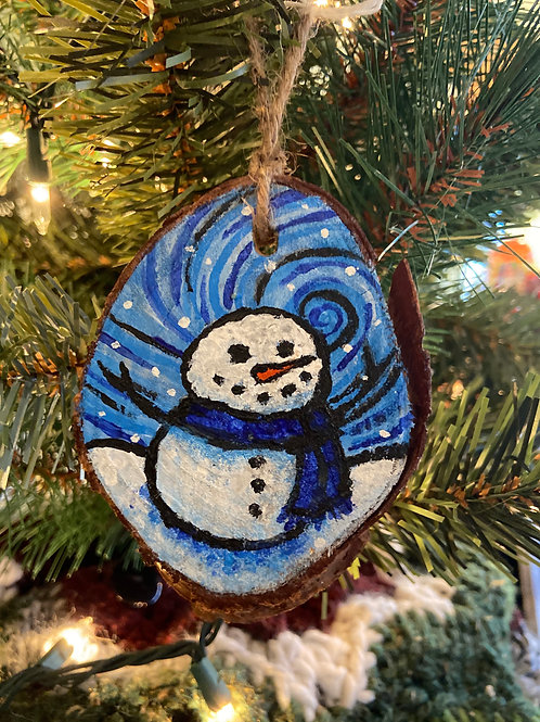Snow Day Hand Painted Ornament