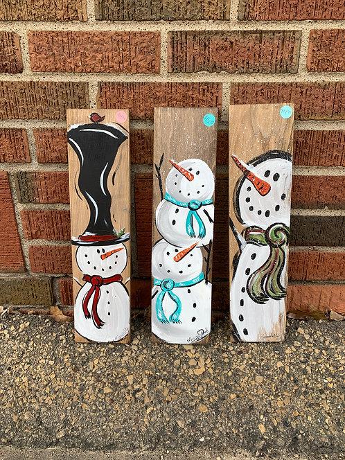 Snowman Wood Art