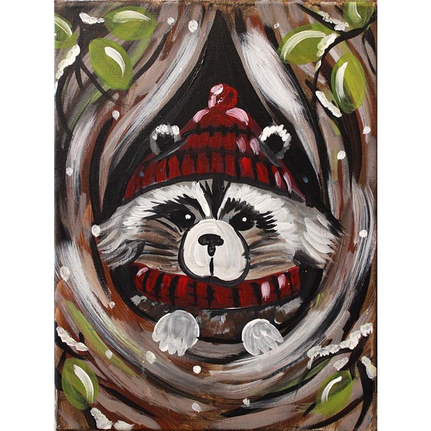Winter Raccoon