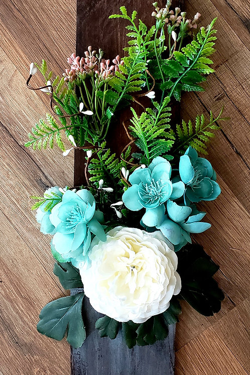 White Peony Floral Board