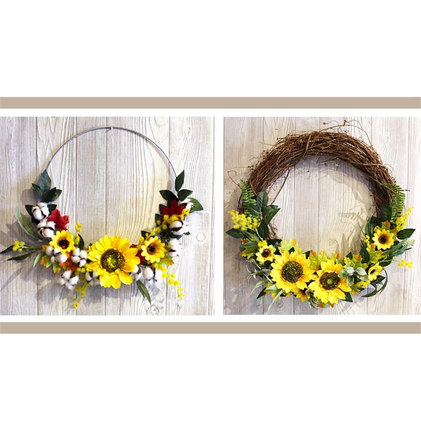 Sunflower Wreath Workshop!