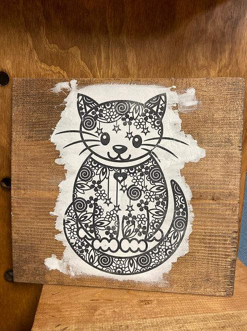 Square Cat Color Decor
