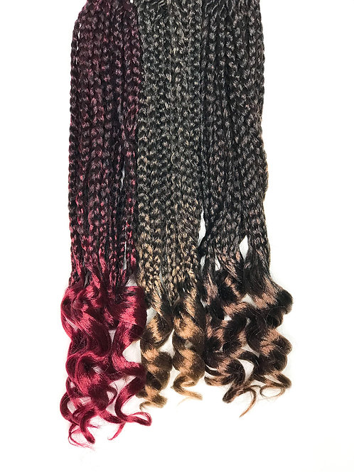 Micro Curly Box Braids Crochet Hair 14""