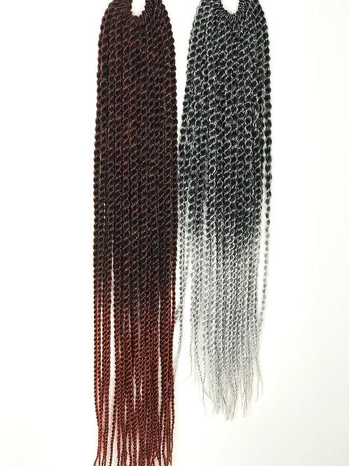 "Ombre Synthetic Crochet Senegalese Twist 18"" T1B/350"