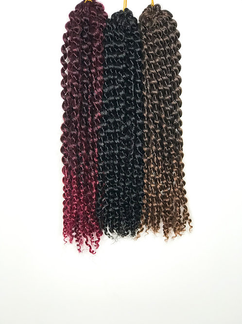 "Afro Marly Braids 12"" Ombre Red Black Synthetic Hair"