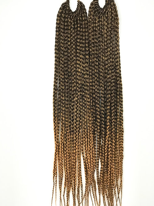 "Box Braid Crochet Hair 18"" T1B/27"