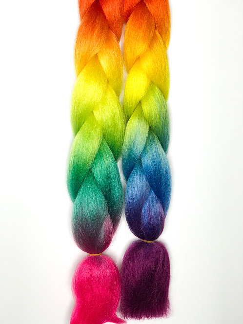 Rainbow Coloured Braids(Purple)