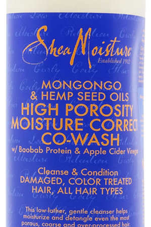 Shea Moisture Mongongo & Hemp Seed Oils High Porosity Moisture Co-Wash 355ml