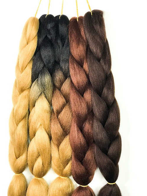 Synthetic Jumbo braids (Black- Brown & Blonde)