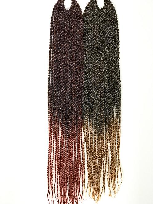 """Crochet Senegal Twist 18"""" T1B/350"""