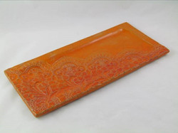 Plat Dentelle Orange/Rouge