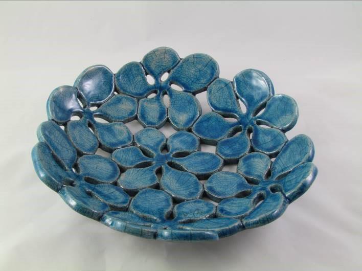 Coupe à Fruits Bleu Pétrole