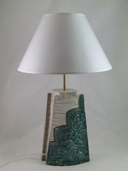 Lampe Tuile Dentelle Vert Zinc