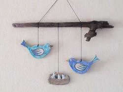 Suspension Oiseaux Nid